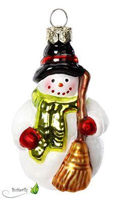 Schneemann mit Besen Christbaumschmuck GLAS 9cm Handarbeit mundgeblasen handbemalt // Weihnachtskugeln Baumkugeln Baumschmuck lüstig Glücksbringer Geschenk Germany Inge-glas http://www.amazon.de/dp/B00OOTCOBQ/ref=cm_sw_r_pi_dp_vnROub0WHZM3T