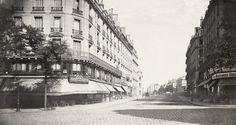 Charles Marville, Rue des Écoles, prise du Boulevard Saint Michel, ca. 1853–70.jpg