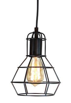 Gitter vinduspendel. Denne lampen blir solgt uten lyspærer så du selv kan velge etter behov. Maks 60W E27 KL.II 220-240V IP20 CE. Mål: Ø: 17 H: 25 cm