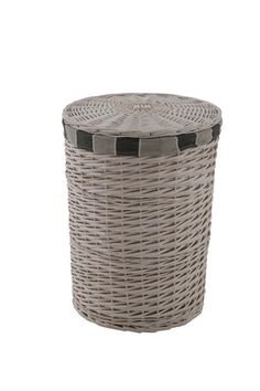 Hamptons Round Laundry Basket from 1825 Interiors at Crossroads Homemaker Centre