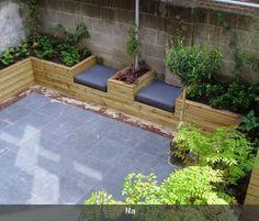 mooie zitplek kleine tuin