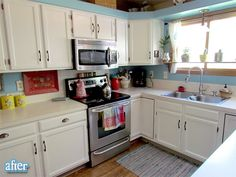 Great white kitchen painted cabinets