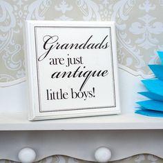 Grandads are just antique little boys!