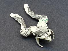 Money Origami Frog - Dollar Bill Art