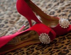 Peep-Toe Embellished Pump In Rose by Bagley Mischka