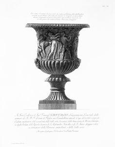 Piranesi, Giovanni Battista - Antique Vase, Villa Borghese