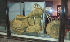 wicker motorcycle,pinned by Ton van der Veer