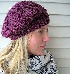 Whirlwind Romance Beret - free crochet pattern by Sara Kay Hartmann.