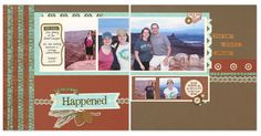Layout inspiration featuring the new Jackson paper packet! #scrapbooking #layout
