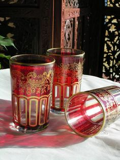 The Enchanted Rose Boutique : Moroccan Décor Moroccan Lamp, Tea Glasses, Enchanted Rose, Moroccan Interiors, Rose Boutique, Red Pattern, Soft Furnishings, Lanterns, Exotic