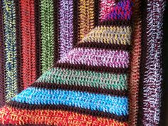 Vintage crochet blanket   knitted afghan  couch by TheSlingshot