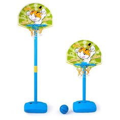 Fun Basketball Set- Adjustable Portable Basketball Toys for Kids Toddlers -- Awesome products selected by Anna Churchill