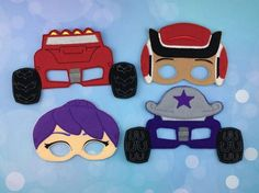 Monster Truck Masks  Felt Children's Masks  by ANewHopeCrafts