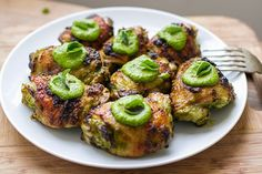 Baked Chicken Thighs With Special Green Sauce