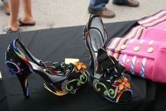 Fabulous beaded heels at the Santa Fe Indian Market.
