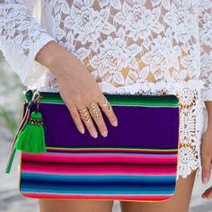 Tassel Bag Bohemian bag Bolivian aguayo fabric by AllGirlsneed Fabric Purses, Fabric Bags, Backpack Purse, Tote Bag, Mexican Fabric, Bohemian Bag, Peruvian Textiles, Mexican Fashion, Cotton Bag