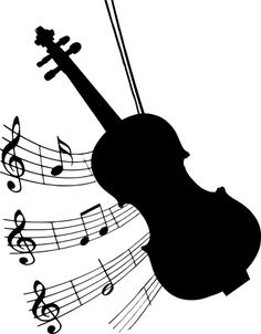 Silhouette, Violin, Musical, Bow, Music