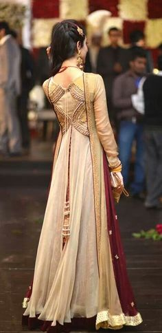 Asian Engagement Dresses Designs Latest Bridal Wear Collection consists of new styles of embroidered fancy women bridal suits, gowns, frocks, Saris, Indian Attire, Indian Wear, Pakistani Outfits, Indian Outfits, Look Short, Desi Wear, Engagement Dresses, Desi Clothes