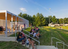 design/buildLAB sharon fieldhouse baseball pavilion designboom