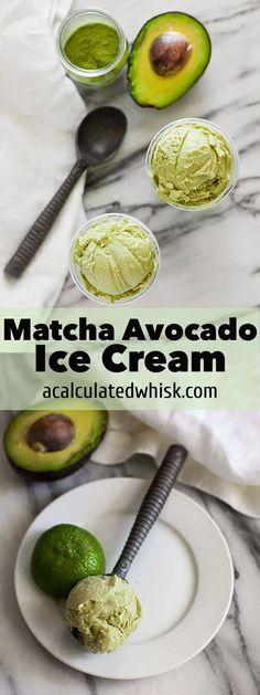 Matcha Avocado Ice Cream | acalculatedwhisk.com