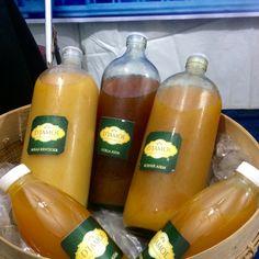 4 variants of jamu from @djamoe_madiun.  Beras Kentjoer, Koenir asem, Goela asem, Temoelawak  all variants of djamoe have different benefits. cek our IG @djamoe_madiun for detail