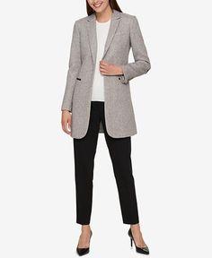 Tommy Hilfiger One-Button Topper Jacket - Blazers - Women - Macy's