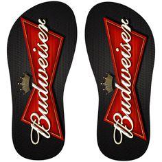 Estampa para chinelo Budweiser 001356 Shoe Show, Leather Sandals, Samurai, Flip Flops, Indie, Shoes, Fashion, Mens Designer Flip Flops, Personalized Flip Flops