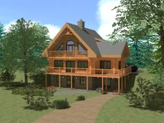 Maison En Bois Rond Projet Coulombe