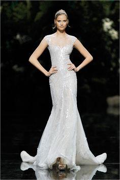 Pronovias Beaded Wedding Gown