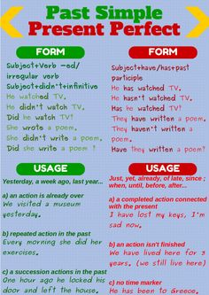 Past Simple and Present Perfect More