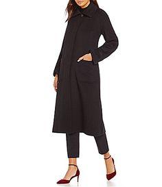 Pendleton Long Spread Collar Wool Blend Reefer Coat #Dillards