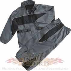 d4521183488 Milwaukee NexGen Mens 2pc Gray   Black Reflective Motorcycle Rain Suit