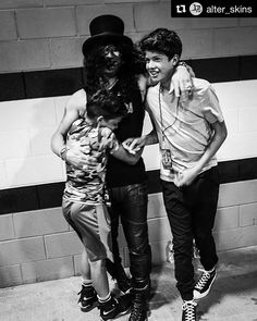 Awesome! @slash's boys are with him on tour #slash #greatdad #family