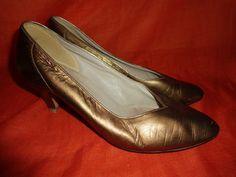 Vintage Pumps - Vintage*Pumps*High heels*Gold*Gabor*5*38* - ein Designerstück von SweetSweetVintage bei DaWanda