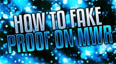 So today I will be going through my MWR fake proof pack and showing you how to change the score, map, teams, names and overall settings to create the perfect. Vfx Tutorial, Neon Signs, Videos, Youtube, Youtubers, Youtube Movies