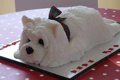 West Highland White Terrier Cake