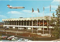 Glasgow Airport postcard 1960s Glasgow Airport, Glasgow City, British European Airways, Paisley Scotland, Airport Photos, Uk History, Glasgow Scotland, The Good Old Days, Old Photos