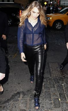Dressed to impress: Model Cara Delevingne looked sensational as she took to the streets of...