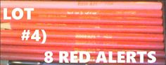COLOR PENCILS LOT#4: 8 RED ALERT! CRAYOLA ROSE ART BRANDS