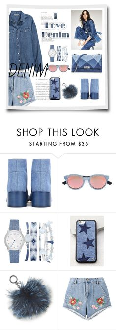 """""""Untitled #58"""" by laly59 ❤ liked on Polyvore featuring Acne Studios, Diesel, A.X.N.Y., Wildflower, Michael Kors, House of Holland and H&M"""
