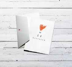 Hochzeitskarte Einladung Wir heiraten von OneOfTheGoodOnes auf Etsy, €3.90