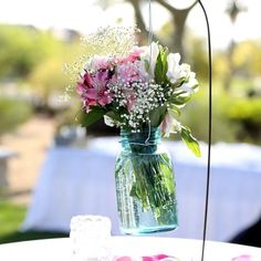 These sweet floral centerpieces are a gorgeous addition to your guest tables, + make great take home gifts! #wedgewoodweddings #wedding #gorgeous #floral #centerpieces #weddingday #springwedding #masonjar #weddingflowers #outdoorwedding #bridetobe #bride #lovely #weddingreception #weddingceremony #Weddingplanning #weddingideas #weddinginspo #theknot #diy #summerwedding #giftideas #weddingdecor #weddingdetails #budgetbride #flowerselfie #loveit #engaged