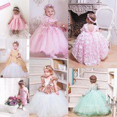 Girls Dresses, Flower Girl Dresses, Tulle, Wedding Dresses, Skirts, Fashion, Bride Gowns, Wedding Gowns, Moda