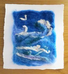 Seascape, needle felted artwork £8.00