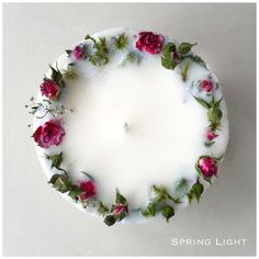 SPRING LIGHT offers you unique handcrafted masterpieces. Every candle is made with love in LATVIA using a 100 soy wax, natural flowers, pure cotton wick, premi Unique Candles, Diy Candles, Scented Candles, Garden Candles, Bougie Bio, Candle Making Business, Candle Art, Homemade Candles, Candlemaking