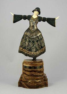 Ожившая бронза | Demetre Chiparus:                 Р умынский скульптор эпохи Ар-деко Demetre H. Chiparus (1886-1947) | Ожившая бронза...Танец
