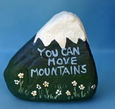 Painted rock Inspirational kitchen art bathroom by DeborahMcGeeArt #rockpainting #easypaintrock #paintingrockideas #stoneart #paintstone
