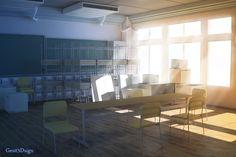 Interior illustration | Oregairu Club Room