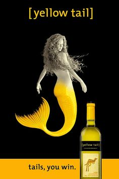 Yellowtail Mermaid Wine http://www.flickr.com/photos/daringniche/4303510544/