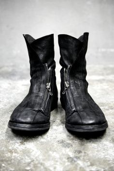MA JULIUS leather zip-up boots | Macabre | goth | dark fashion | high end | leather boots | obscur